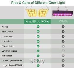 KINGPLUS 4000W Full Spectrum LED Grow Light Plants Veg Flower Samsung LM301B