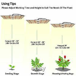LED Plant Grow Light Sunlike Full Spectrum Dimmable Indoor Plants Veg Greenhouse