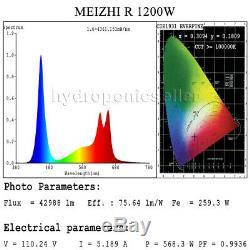 MEIZHI 1200W LED Grow Light Full Spectrum for Indoor Plants Strips IR Veg Bloom