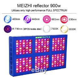 MEIZHI 900W LED Grow Light Full Spectrum Hydroponic Indoor Plants Veg Bloom Lamp