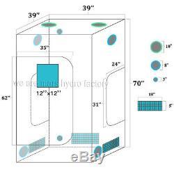 Mars Hydro 600W Grow Light LED Full Spectrum Veg Flower+3'x 3'x 6' Grow Tent Kit