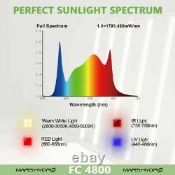 Mars Hydro FC 4800 Led Grow Light Full Spectrum UV IR Samsung Veg Greenhouse
