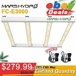 Mars Hydro FC-E3000 4800 6500 LED Grow Light Full Spectrum Bar Veg Flowers UV IR