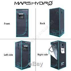 Mars Hydro TS 1000W LED Grow Light +2x2 Grow Tent Completed Grow Kits Veg Flower