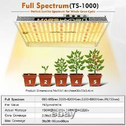 Mars Hydro TS 1000W Led Grow Lights Full Spectrum Hydroponic Indoor Veg Flower