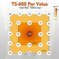Mars Hydro TS 600W LED Grow Light White Full Spectrum For Indoor Grow VEG Bloom