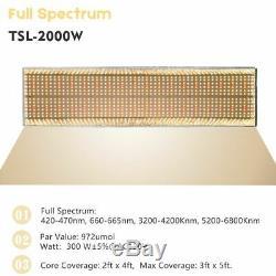 Mars Hydro TSL 2000W LED Grow Light Full Spectrum Indoor Plants for Veg Flower