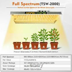 Mars Hydro TSW 2000W LED Grow Light Full Spectrum Hydroponics Indoor Veg Plants