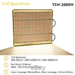 Mars Hydro TSW 2000W LED Grow Light Panel Full Spectrum Indoor Plant Veg Bloom
