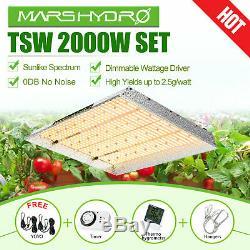 Mars Hydro TSW 2000W LED Grow Light Set Full Spectrum for Indoor Veg Bloom Panel