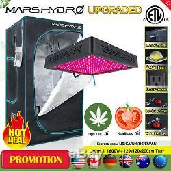 Mars II 1600W LED Grow Light Veg Flower+48x48x78 Indoor Grow Tent Room Hut