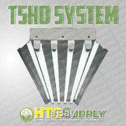NEW T5 HO 4'/4-LAMP FLUORESCENT GROW LIGHT SYSTEM With 6500K VEG BULBS, 4-FOOT FT