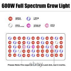PHLIZON 600W LED Grow Light Lamp Full Spectrum for All Indoor Plants Veg Flower