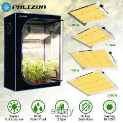PHLIZON SMD 3000W 1500W 1000W 600W LED Grow Light Indoor Plants for Veg Flowers