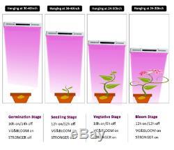 Phlizon COB Series-High PAR 2000W 12Band Full Spectrum LED Grow Light VEG &Bloom