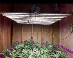 Set of 10 800W LED Grow Light Bar Strips Full Spectrum Indoor Plants Veg Flower
