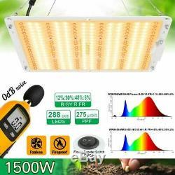 Set of 2 1000W LED Grow Light Full Spectrum For Indoor Plants VEG IR Hydroponic