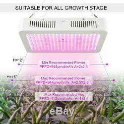 Set of 2 2500W Led Grow Light Full Spectrum For All Indoor Plant Veg Flower Lamp
