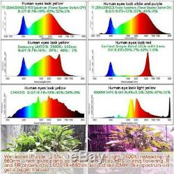 Set of 2 5000W LED Grow Light Full Spectrum For Indoor Plant 384 LEDs Veg Switch