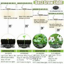 Set of 5 1500W LED Grow Light Bar Strips Full Spectrum Indoor Plants Veg Flower