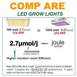 Spider Farmer 1000W LED Grow Light Samsungled LM301B Veg Flower Indoor Plants US