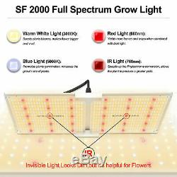 Spider Farmer 2000W LED Grow Light Samsungled LM301B Veg Flower Indoor Plants
