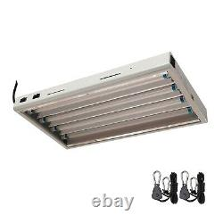 T5 Grow Light Kit Hydroponics 2 ft 24 4x 24W 2' x 4 LED Veg Bulbs Included