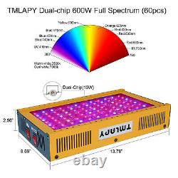 TMLAPY 2x1000W LED Plant Grow Light Full Spectrum Grow Lamp for Indoor VEG&BLOOM