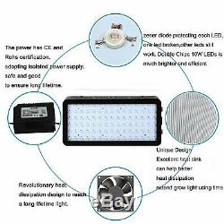 UL 900W LED Grow Light Indoor 12 Band Full Spectrum with VEG BLOOM Double Switch
