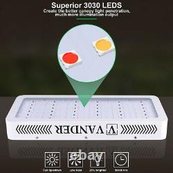 VANDER 3000W 6000W 9000W LED Grow Light VEG Bloom Dual Full Spectrum Plant Bulbs