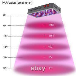 VIPARSPECTRA 2PCS 450W LED Grow Light Full Spectrum for VEG BLOOM Flower Plants