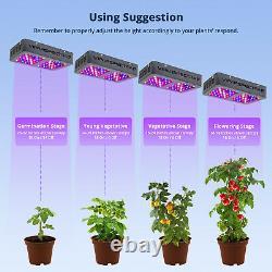 VIPARSPECTRA 300W LED Grow Light Full Spectrum for Indoor Plants Veg and Flowers