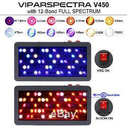 VIPARSPECTRA 450W LED Grow Light Full Spectrum plants Veg Flower Replace HPS HID