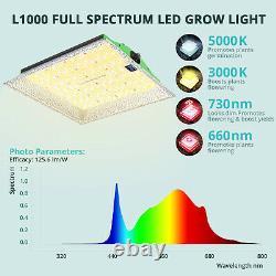 VIPARSPECTRA L1000 LED Grow Light Full Spectrum Samsungleds for Plants Veg Bloom