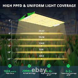 VIPARSPECTRA P2000 LED Grow Light Full Spectrum All Indoor Plants Veg Flower IR