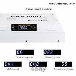VIPARSPECTRA Timer Control PAR600T 600W LED Grow Light Full Spectrum Plants Veg
