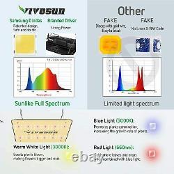 VIVOSUN 1000W LED Grow Light Samsung LM301H Diodes Veg Flower Indoor Plants