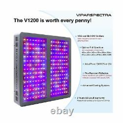 Viparspectra Led Grow Light Full Spectrum 1200W Indoor Plants Vegetable Flowers