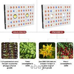 WILLS COB 1000W 2xCREE LED Grow Light Full Spectrum Veg Flower Indoor Plants USA