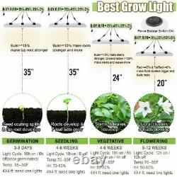 WhiteRose 6000W LED Grow Light Full Spectrum for Indoor Plants Veg Bloom IR IP65