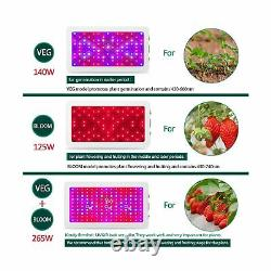 Yehsence 1500w LED Grow Light Bloom & Veg Switch Triple-Chips 15W LED SMZZERJ2K7