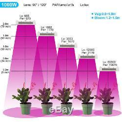 1000w Led Grow Lumière De La Lampe Pour L'intérieur Hydroponique Veg Usine De Fleur Full Spectrum