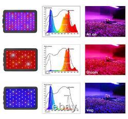 1000w Led Grow Lumière Panneau Ultra-mince Intérieur Jardin Fleur Veg Plante Lampe De Fleur