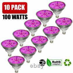 100watt Full Spectrum E27 Led Grow Lampe D'ampoule De Lumière Pour Veg Bloom Indoor Plant Us