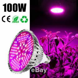 100watt Led Grow Ampoule E27 Plante À Pousser Full Spectrum Garden Fruit Veg