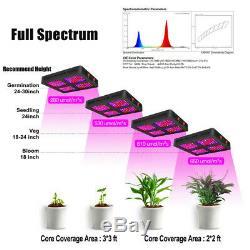 1200w Usine De Led Grow Light Full Spectrum Pour Effet De Serre Hydro Herb Veg / Bloom Us