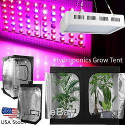 1500w Hydro Led Grow Light Veg Usine De Fleur + Kit Tente Grossir Intérieur Multi-taille