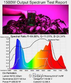 1500w Led Grow Light Full Spectrum Plantes À Effet De Serre D'intérieur Veg Bloom Us Stock