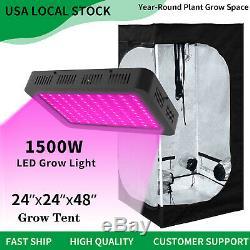 1500w Led Grow Light Veg Usine De Fleur 2' X 2' Hydroponique Grossir Kit Intérieur Tente