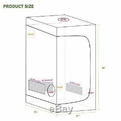 1800w Led Grow Light Veg Usine De Fleur + 2'x2' Hydroponique Grossir Kit Intérieur Tente